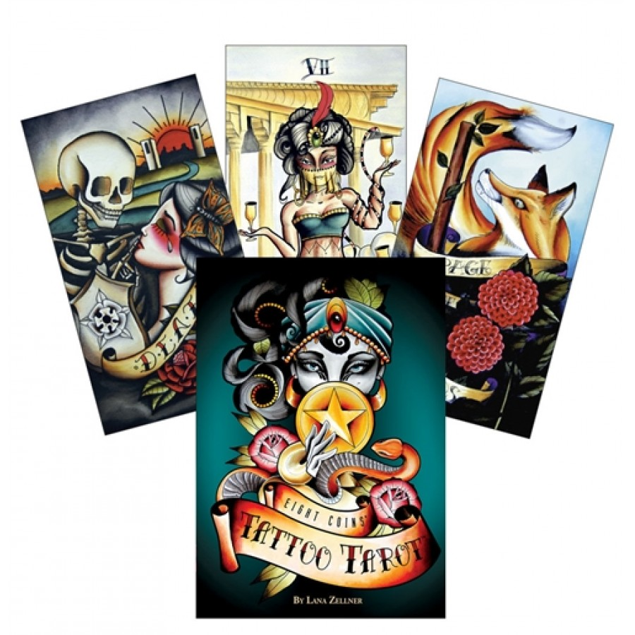 Карты Таро Тату Восемь монет Eight Coins Tattoo Tarot