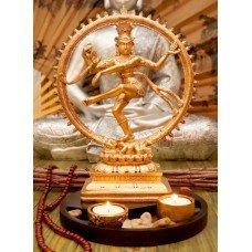 Натарадж Танцующий Шива большой статуэтка-подсвечник