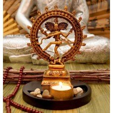 Натарадж Танцующий Шива в позолоте статуэтка-подсвечник