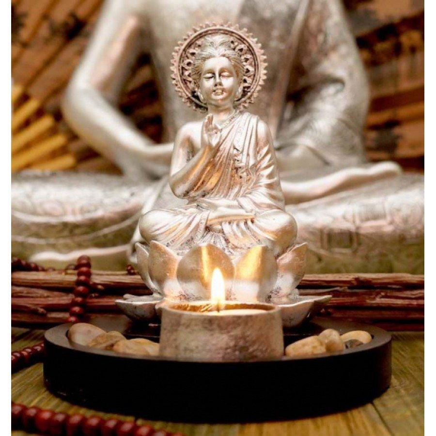 Будда статуэтка-подсвечник