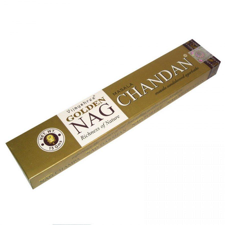 Золотой Сандал (Golden Nag Сhandan) Ароматические палочки натуральные 15 г.