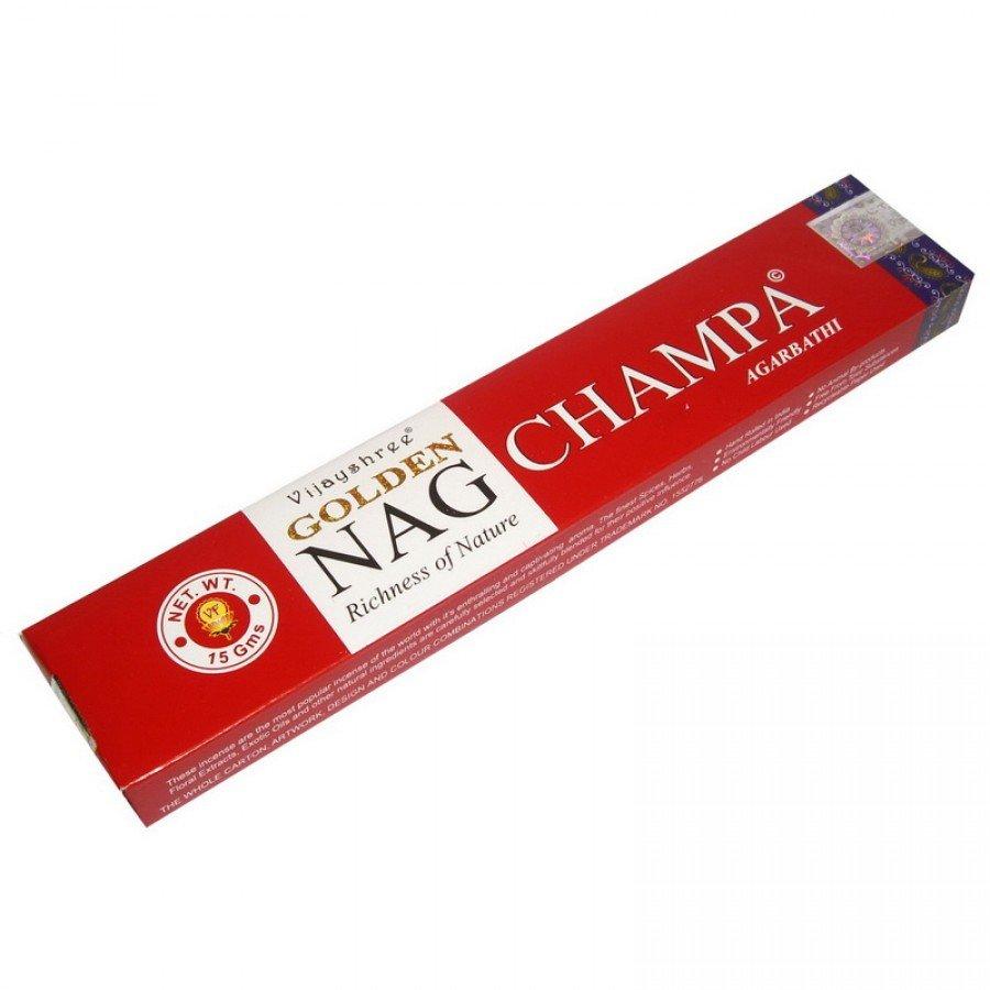 Золотая Наг Чампа (Golden Nag Champa) Ароматические палочки натуральные 15 г.